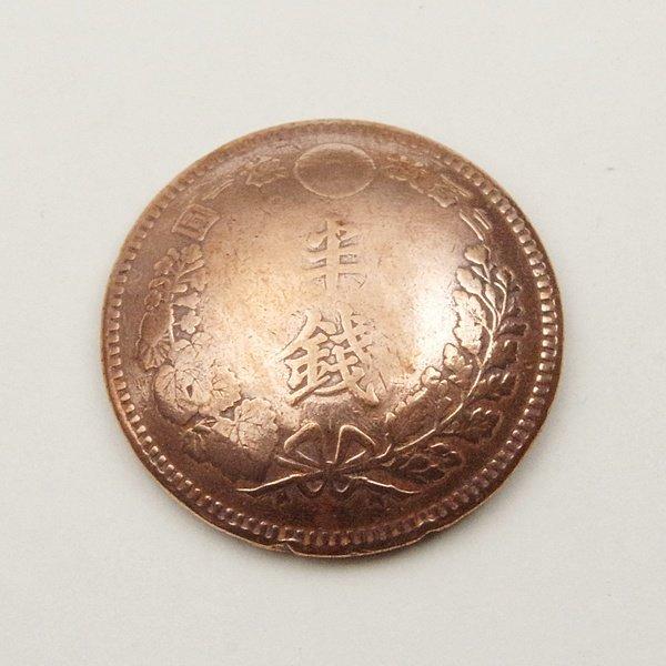 竜半銭銅貨コンチョA